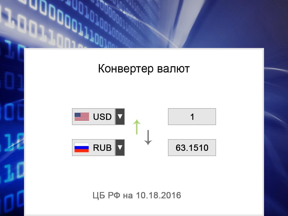 калькулятор валют по курсу цбр